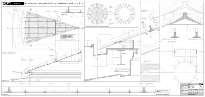 Art Gallery Rooflight construction dwg