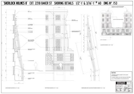Exterior 221B Baker St - shoring details