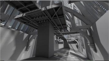 Interior Hogwarts Battlements - 3D model