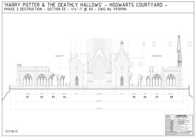 Courtyard destruction - film seyt construction drawings