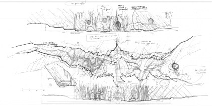 'escape from grinotts' lava chasm sketch plan