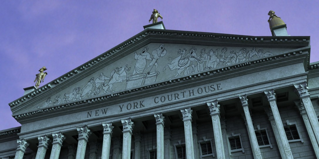 New York Courthouse - Entablature Characters by Artist Avner Geller
