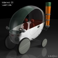 Peabody Intro - Car of the future. Concept drawing by Artist Carlos Leon, modeled by Nic Henderson