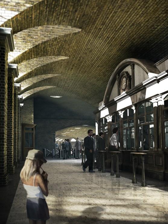 KX - ticket hall. Model by Artist Kim Frederiksen