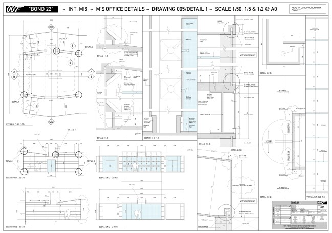 MI5 - M's Office plans & elevations