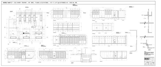 USS Harry Truman Brig - Construction dwgs for film set