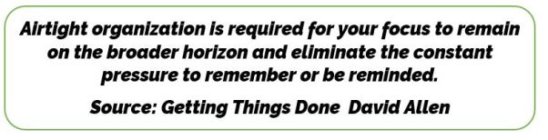 Getting Things Done Quote On Focus