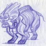 Dimitris Fousekis' draft sketch of a Fallen