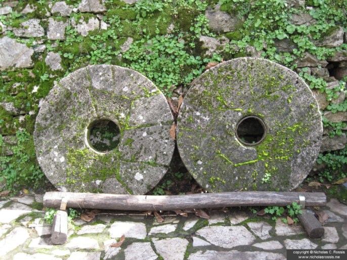 Millstones at Dimitsana, Greece
