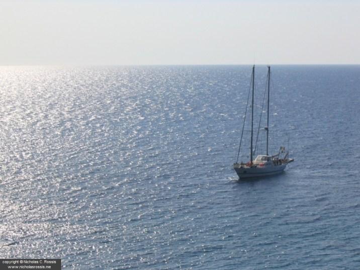 Sailing boat outside Kefallonia, Greece