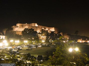 "Night view of the Venetian (""New"") Castle, Island of Corfu, Greece"