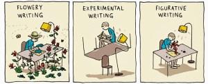 Unusual writing