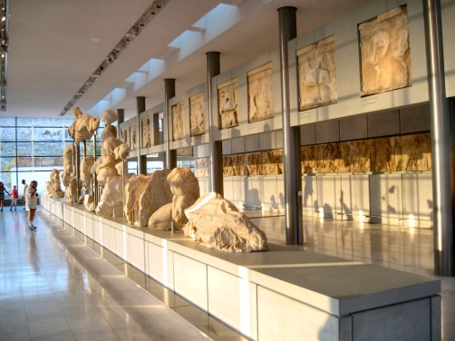 The top floor of the Acropolis Museum