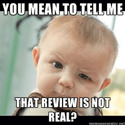 Fake review - baby meme | From the blog of Nicholas C. Rossis, author of science fiction, the Pearseus epic fantasy series and children's books