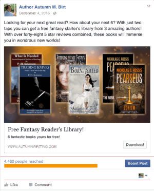 FB ads - subscribers - Autumn | From the blog of Nicholas C. Rossis, author of science fiction, the Pearseus epic fantasy series and children's books