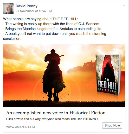 David Penny's Facebook ad| From the blog of Nicholas C. Rossis, author of science fiction, the Pearseus epic fantasy series and children's books