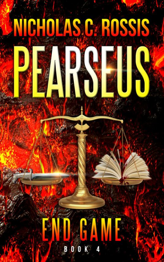 Pearseus: Endgame draft book cover - lava   From the blog of Nicholas C. Rossis, author of science fiction, the Pearseus epic fantasy series and children's books
