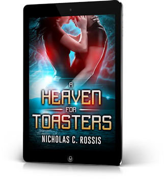 A Heaven for Toasters 3d for header | From the blog of Nicholas C. Rossis, author of science fiction, the Pearseus epic fantasy series and children's books