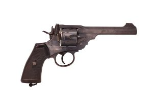 British Webley revolver | From the blog of Nicholas C. Rossis, author of science fiction, the Pearseus epic fantasy series and children's books