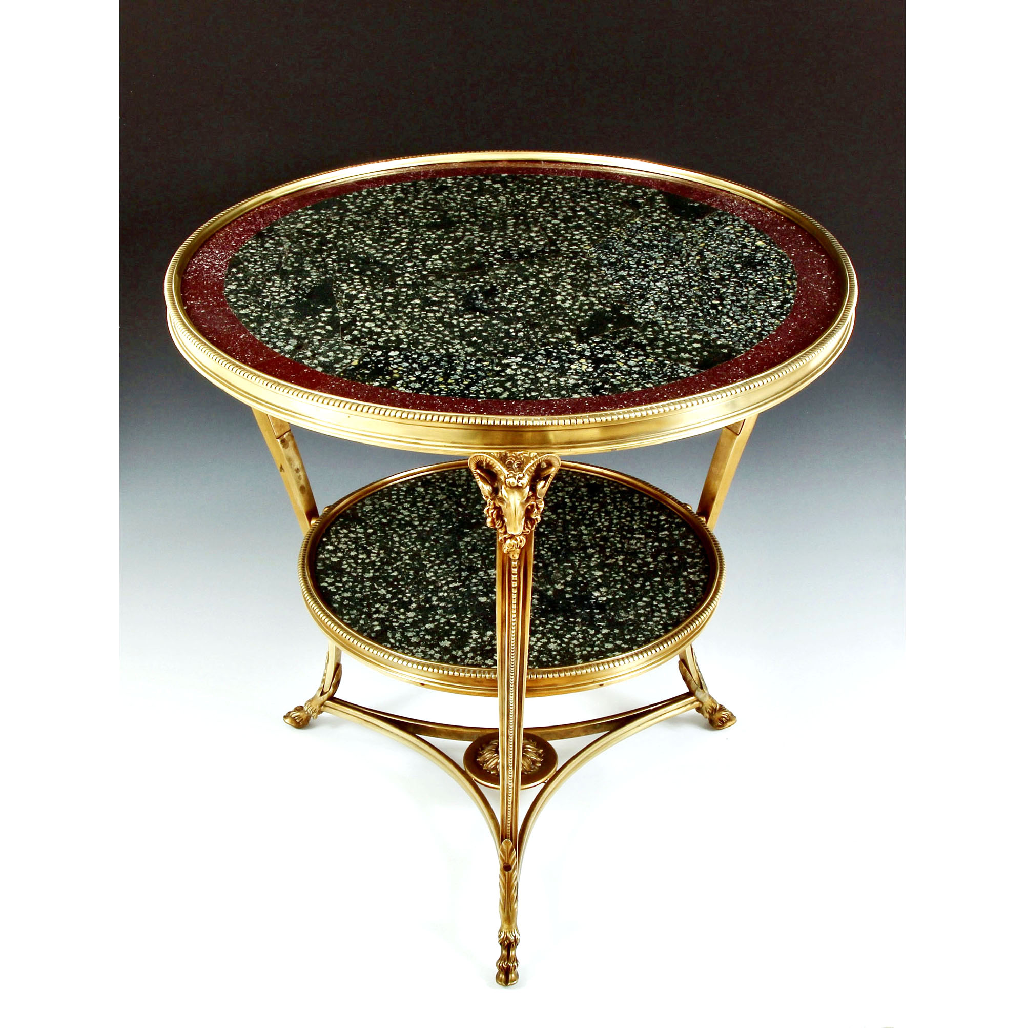 lapis spartanus grecian porphyry imperial egyptian porphyry centre table