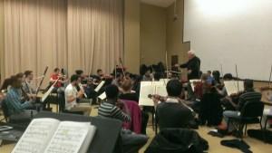 GSU Orchestra Rehearsal for La Bohème 9April 10th- 12th)
