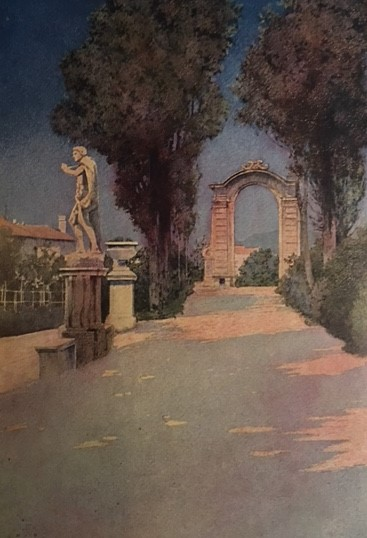 Illustration from Italian Villas and Their Gardens.