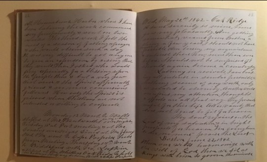 Pages from Charles Nichols' diary.