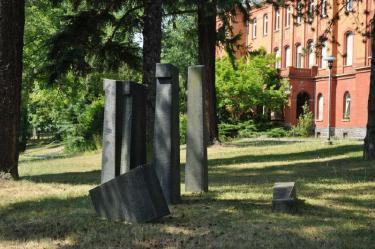 Gedenkstelle an die Opfer der Zwangssterilisation.