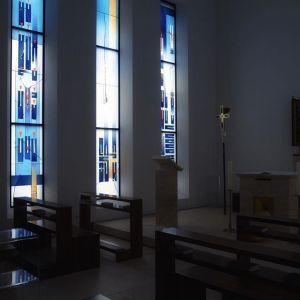 Kapelle mit Schreiterfenster. #bischofshaus #bistumlimburg #instakirche #schreiter