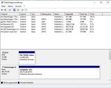 Datenträgerverwaltung