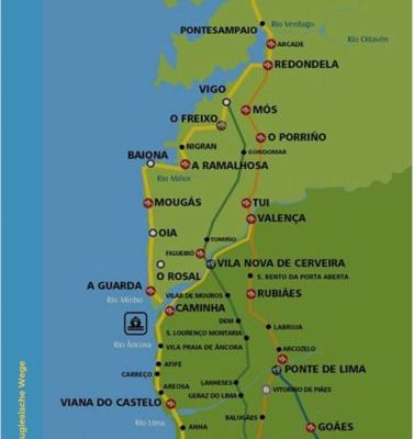 Caminho Português – Stationen und Routen (Tracks)