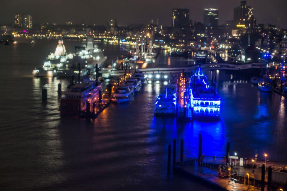 Blick auf die Hafenbrücken