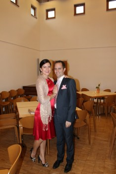 Me and Chris - dress and shoes are from siopaella, scarf from pennies
