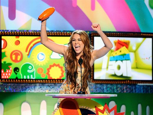 Go Miley!|Now this girl knows how to celebrate. Miley Cyrus shakes her Blimp around on what turned out to be a really big night for armpits!