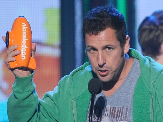 KCA 2012: Adam Sandler Wins Big|The fans spoke, and we heard them! Adam Sandler takes home the Blimp for Favorite Movie Actor for his role in