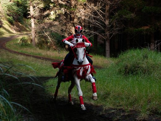 The RPM Ranger charges out of the woods on a sweet mystical horse.