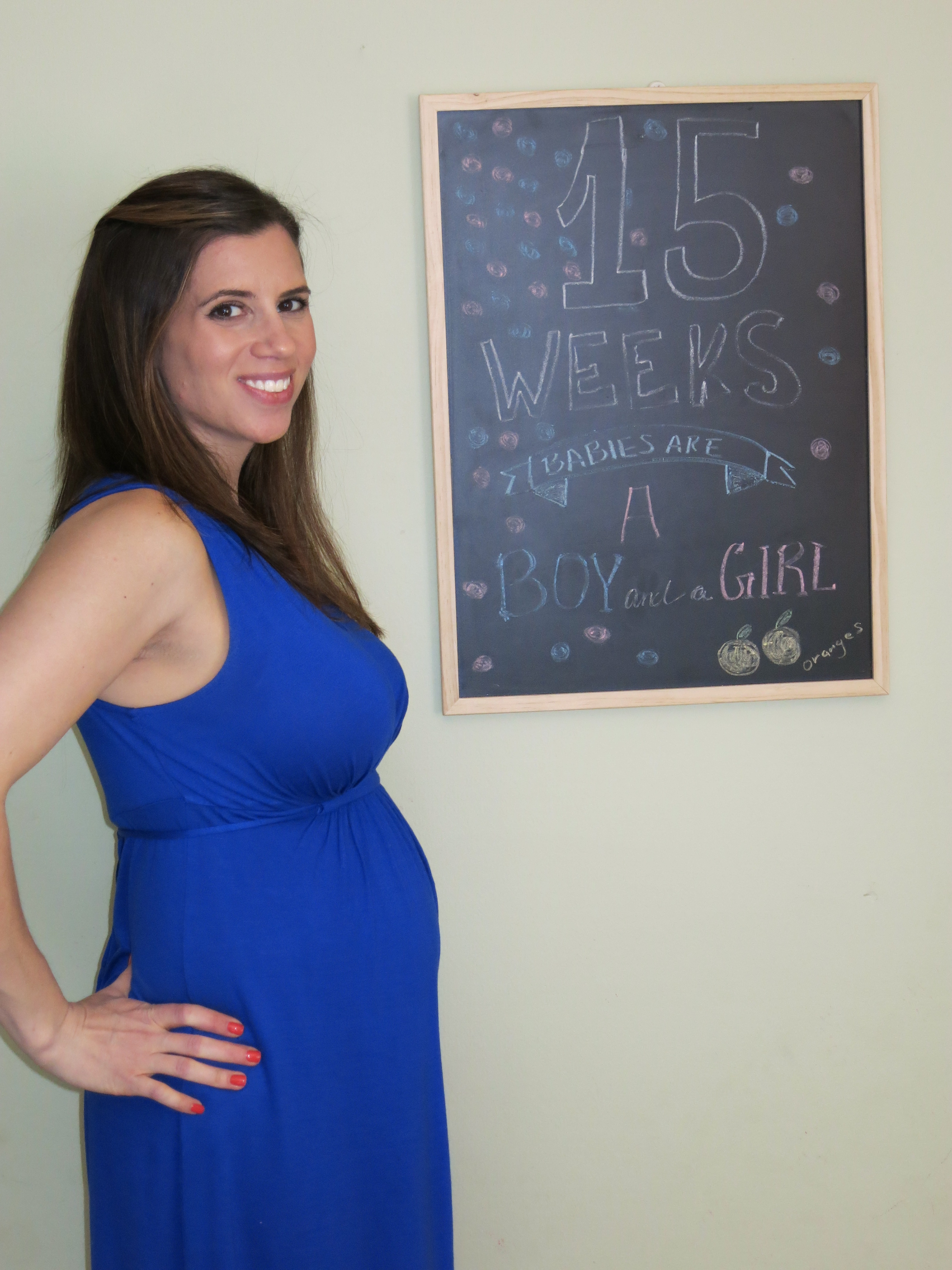 15 Weeks Mothers Day Gender Reveal To Family