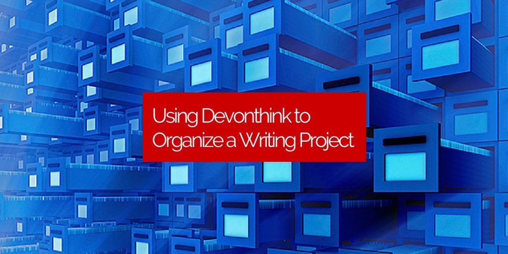 Using Devonthink to Organize a Writing Project