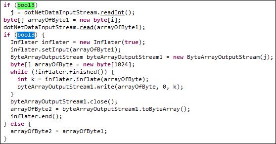 Decompressing the JNBridge message body in handleRequest().