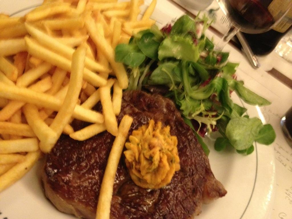 Le steak frites