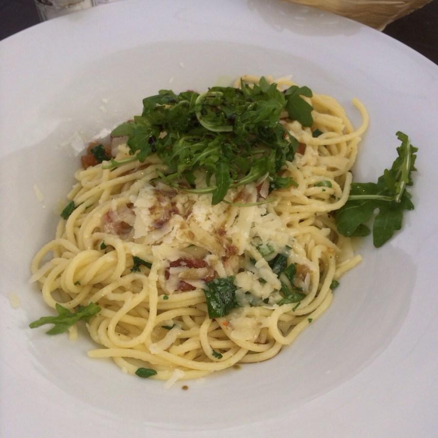 Spaghetti aglio e oglio e peperoncino @ Stahlberg, Bielefeld