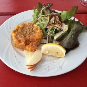 Tartare du thon à la mangue @ tara - Cantine de mer, Lesconil, Frankreich