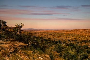 Wide, deep valleys make great vantage points for a South Africa hunt, a safe place to travel.