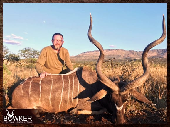 Using African shootings sticks with Nick Bowker Hunting