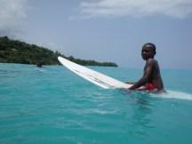 Young surfer at Kabik