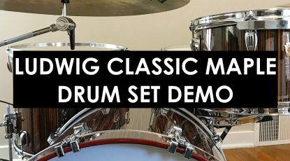 nick costa music nick costa drums ludwig classic maple drum set demo