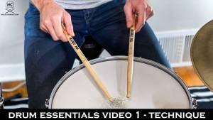 Drum Essentials video 1 - Technique   NickCostaMusic.com free drum lesson