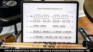Drum Essentials Video 6 - Triple Paradiddle (Rudiment 18) NickCostaMusic.com nick costa music nick costa drums nick costa teacher drum lesson drum fundamentals drum rudiments