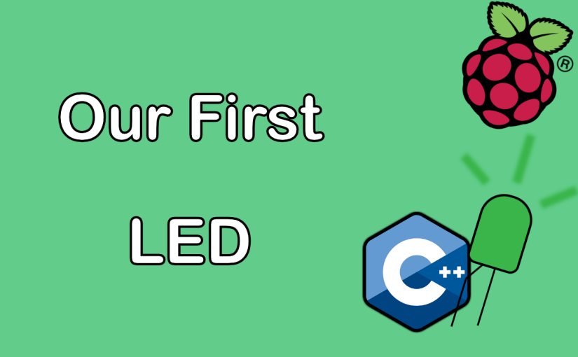 Raspberry pi c our first led controlling gpio output nick our first led thumbnail greentooth Image collections