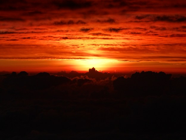 Dawn from the summit of Mount Kenya